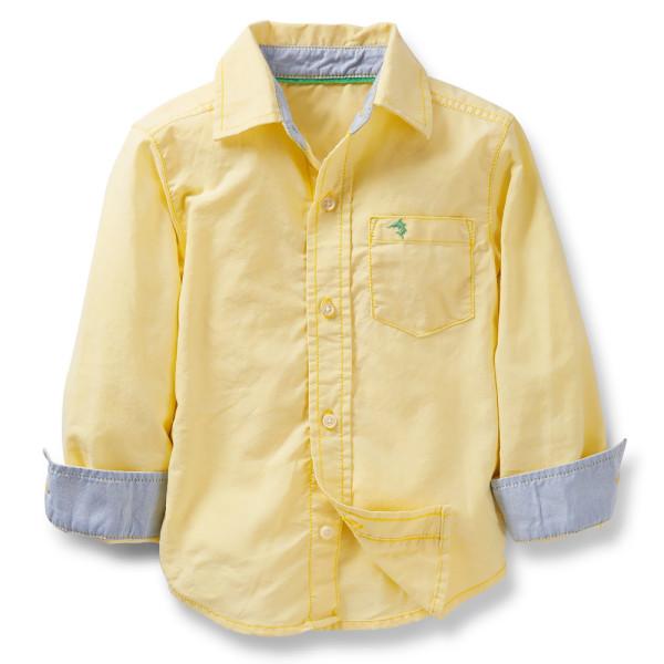 Желтая рубашка для мальчика