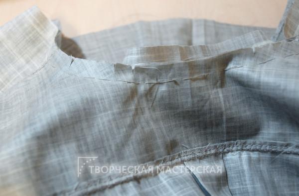 Наметка ворота рубашки