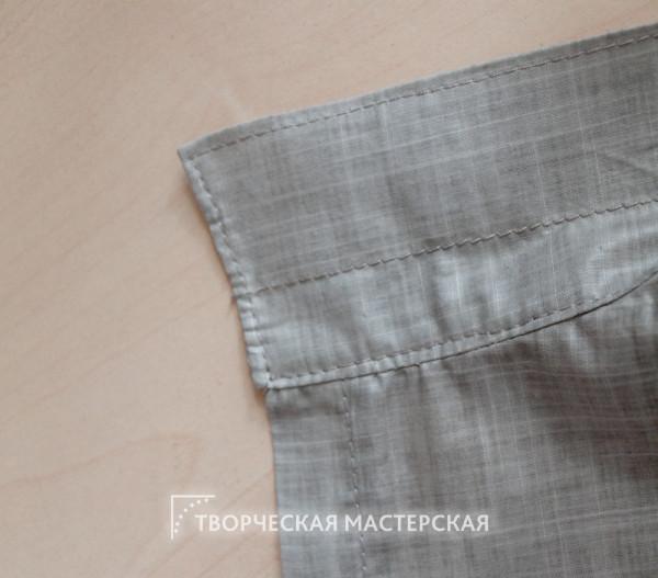 Обработка ворота рубашки