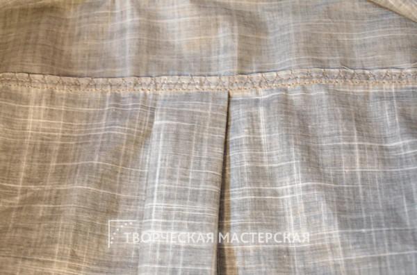 Складка на спинке рубашки