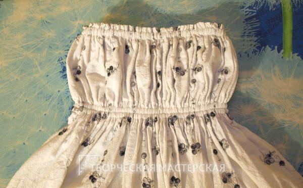 Фотография верхней части длинного сарафана