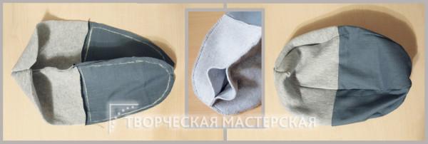 Соединение всех деталей детской шапки