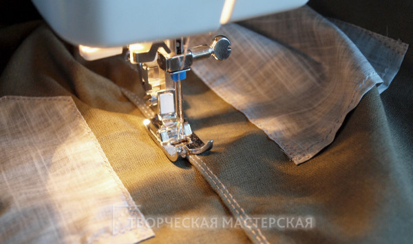 Декоративная отделка шва брюк