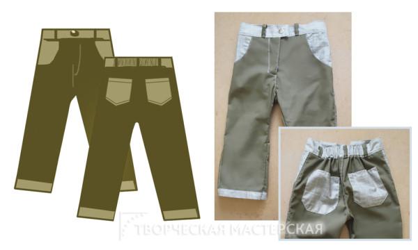 Эскиз для летних брюк