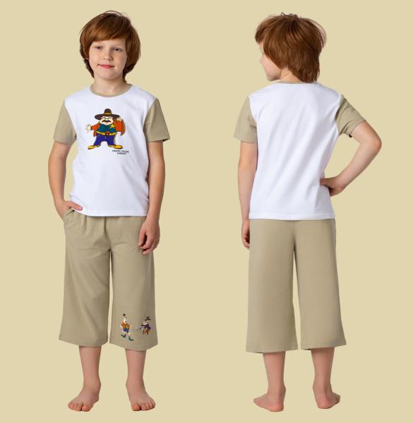 Легкие укороченные брюки для мальчика