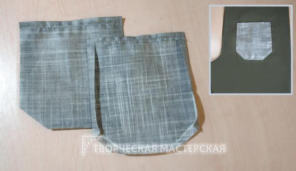 Задний карман летних брюк для мальчика