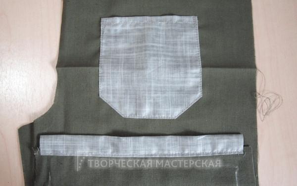 Задняя часть летних брюк
