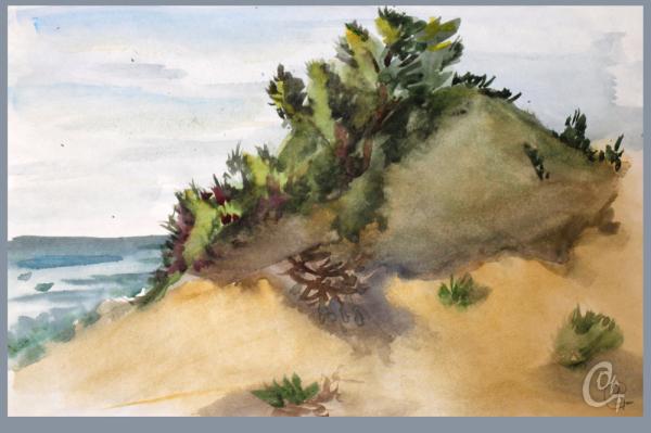 Художественный этюд песчаные дюны