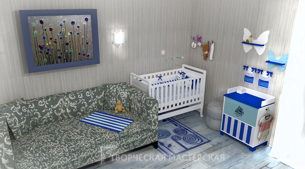 Дизайн детского уголка для новорожденного